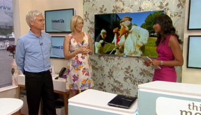 Phillip Schofield and Jenni Falconer on This Morning