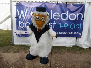 Great Uncle Bulgaria outside the Wimbledon Bookfest tent