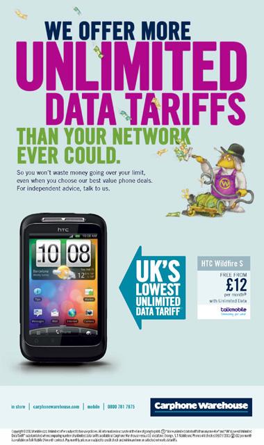 Carphone Warehouse advert with Tobermory