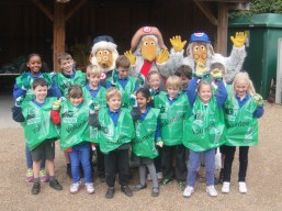 Dundonald Primary School line up with the Wombles