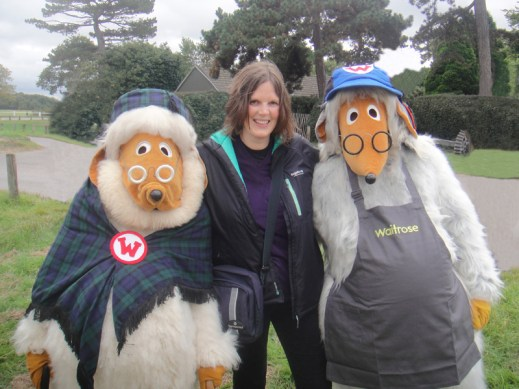 Tara gets a photo with Uncle Bulgaria and Wellington