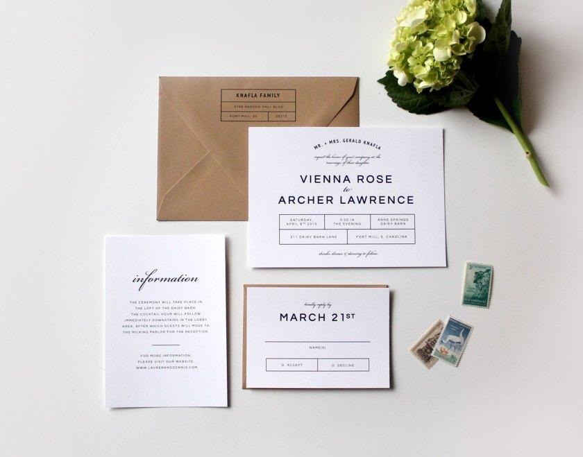 Modern Wedding Invitation Design