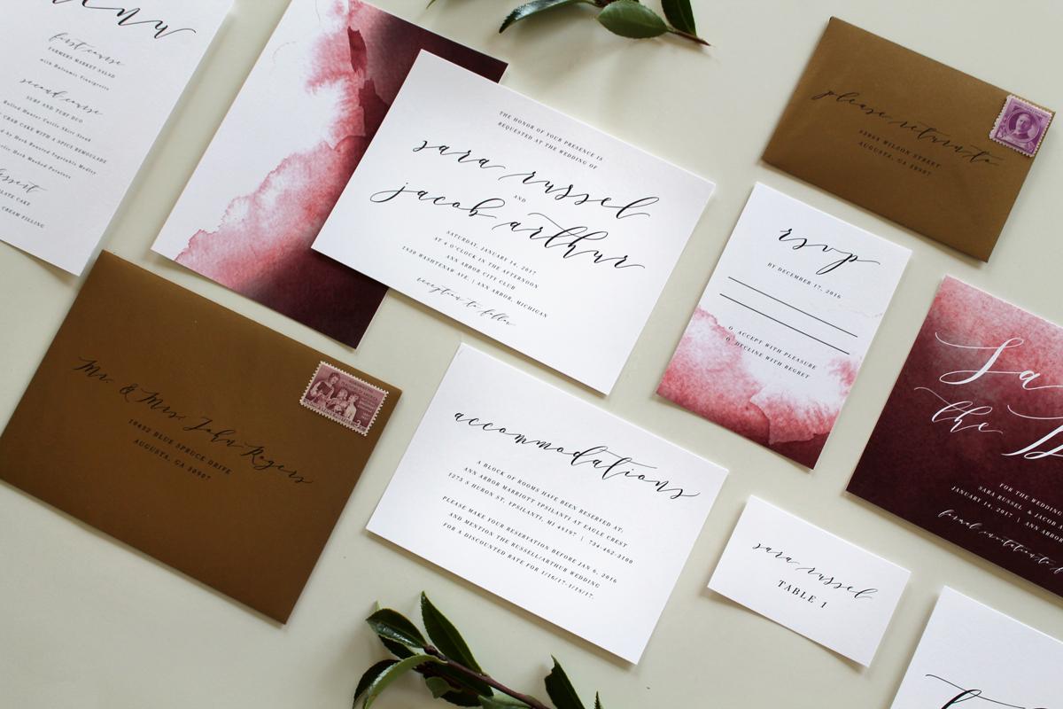 Calligraphy Wedding Invitations In Augusta Georgia Tied
