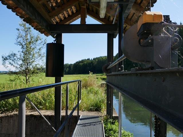 Stauwehr an der Schlossmühle Liebenthann