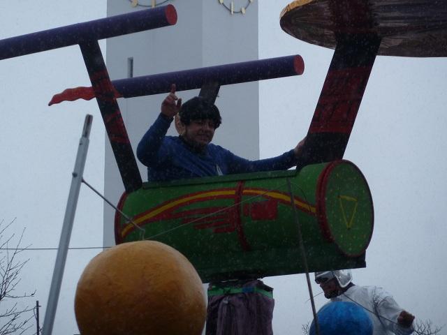 fliegender Spock auf dem Faschingsumzug Ronsberg 2013