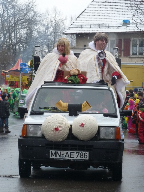 Prinzenpaar der Silikonie Ottobeuren auf dem Faschingsumzug Ronsberg 2013