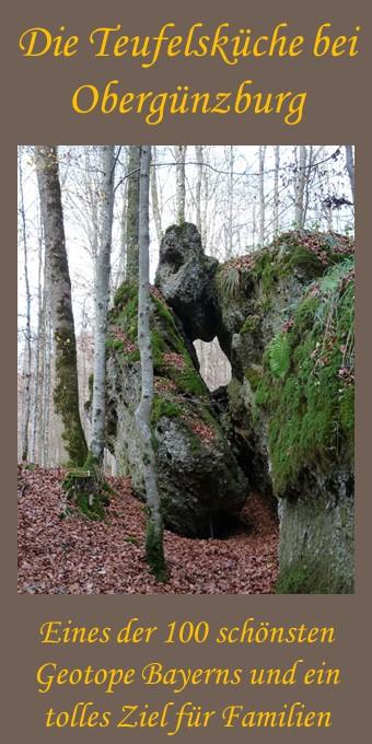 Naturerlebnis im Geotop Teufelsküche bei Obergünzburg im Ostallgäu