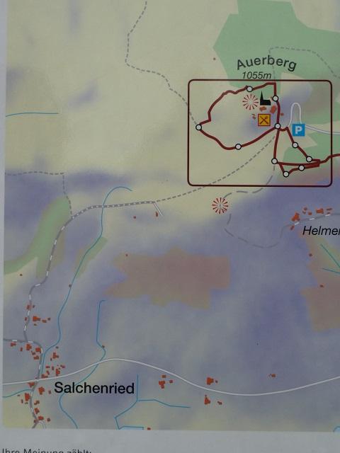 Karte zum Römerrundweg am Auerberg