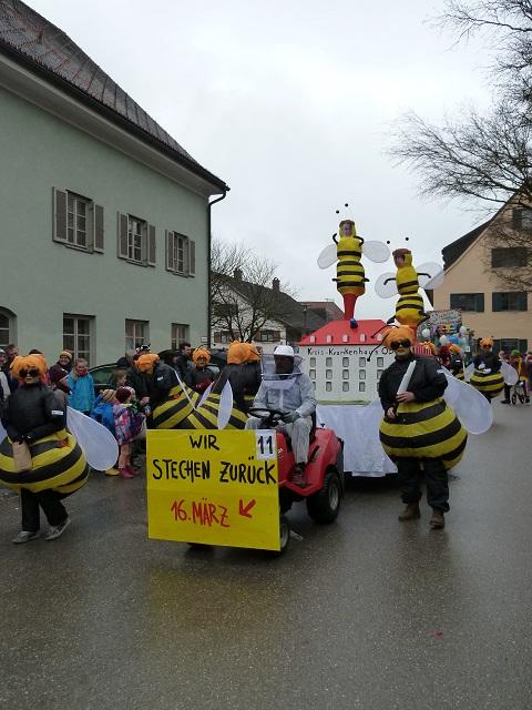 Faschingsumzug Obergünzburg-Krankenhausbienen