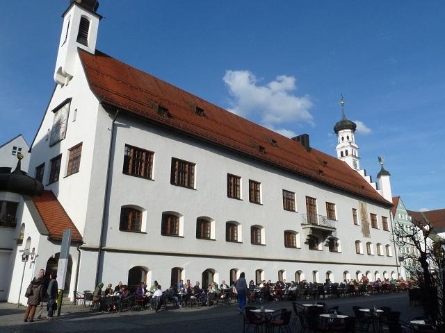 Das Rathaus in Kempten - Seitenansicht