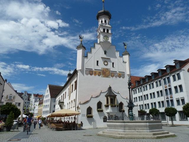 Rathaus Kempten, Ansicht vom Rathausplatz