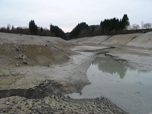 die Reste des Tiefenbachs im Forggensee