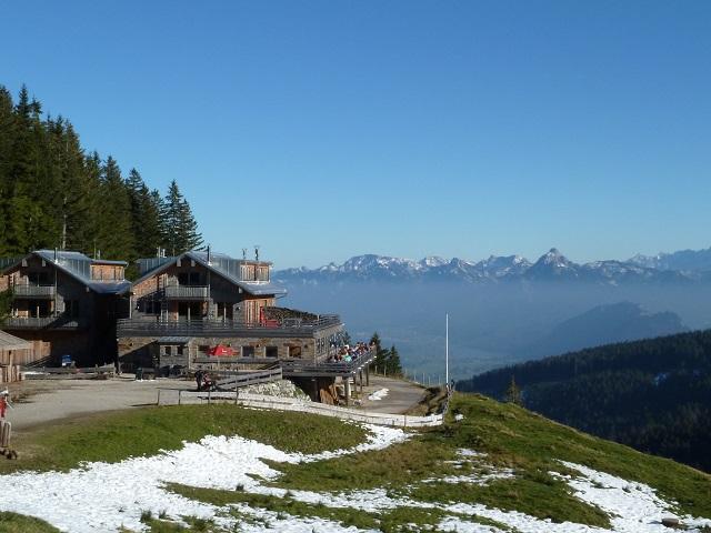 das Sportheim Böck auf der Alpspitz bei Nesselwang