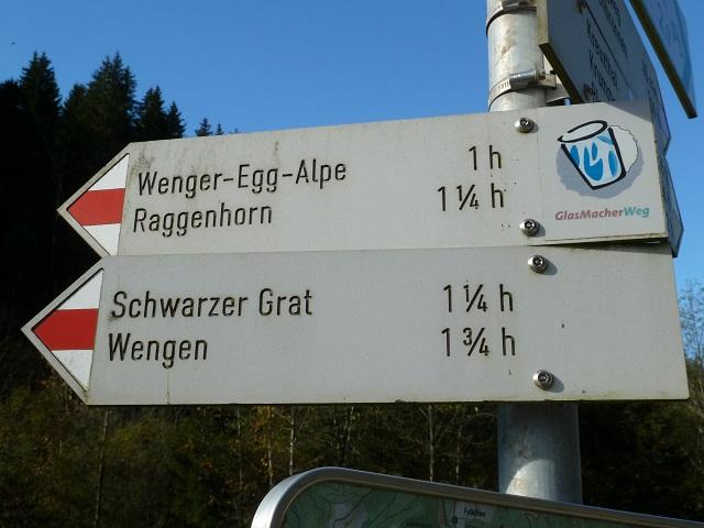 Wanderung zum Schwarzen Grat in der Adelegg - Wegweiser