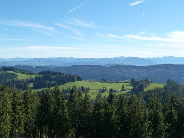 Schwarzer Grat - Panoramablick vom Aussichtsturm nach Süden
