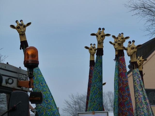 Giraffen im Fasching