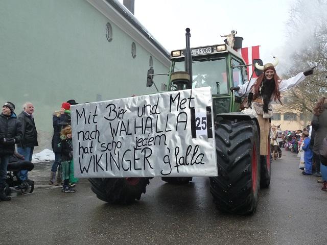 Wikinger auf dem Faschingsumzug Obergünzburg 2015