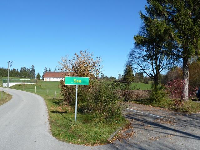 Parkplatz am Illasbergsee am Weiler See