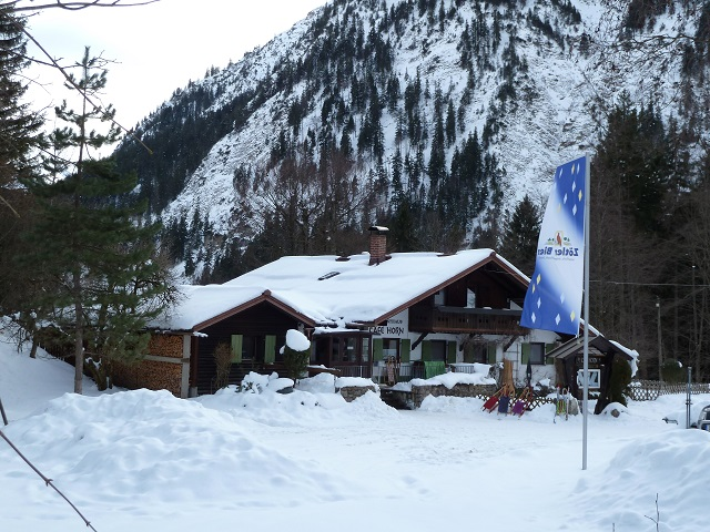 Bad Hindelang - das Cafe Horn im Winter
