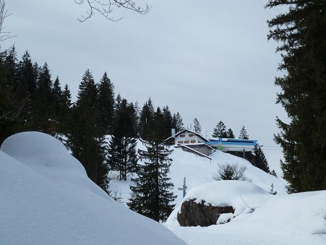Bergstation der Hornbahn Bad Hindelang im Winter