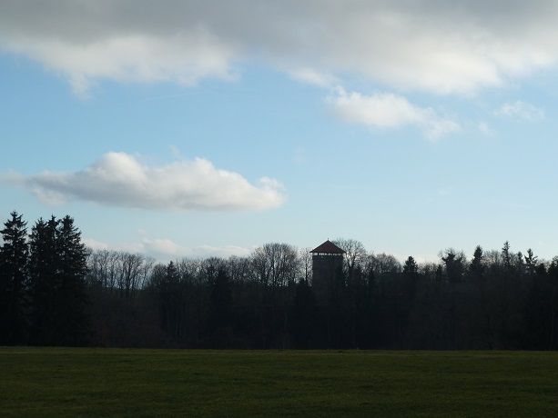 Blick auf den Römerturm bei Kemnat