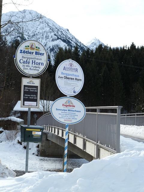 Startpunkt zur Rodel-Wanderung am Imberger Horn: der Parkplatz Grüebplätzle