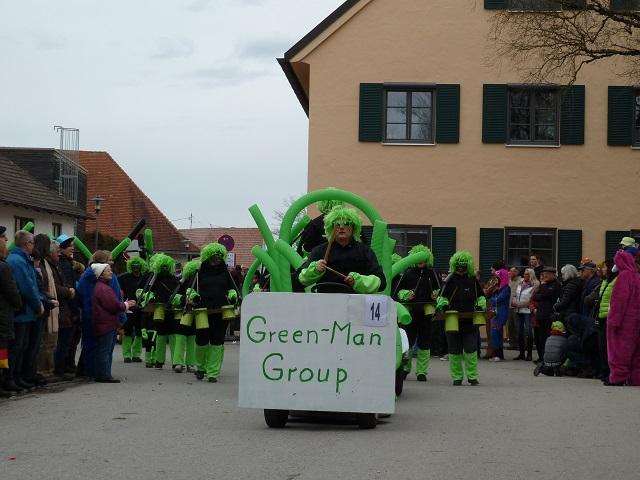 Green-Man-Group beim Faschingsumzug Obergünzburg 2016