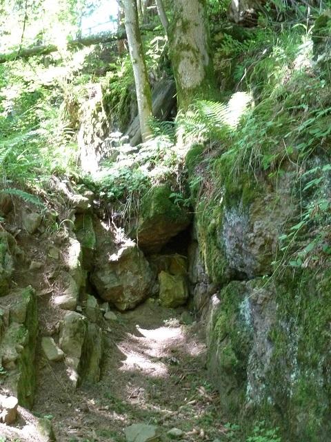 Tagebau-Grube am Grünten