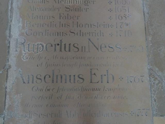 Basilika Ottobeuren - Grabplatte der Äbte