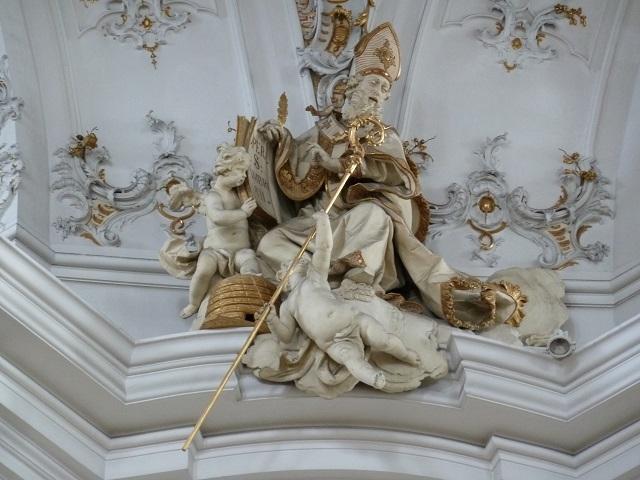 Basilika Ottobeuren - Figur des Heiligen Ambrosius