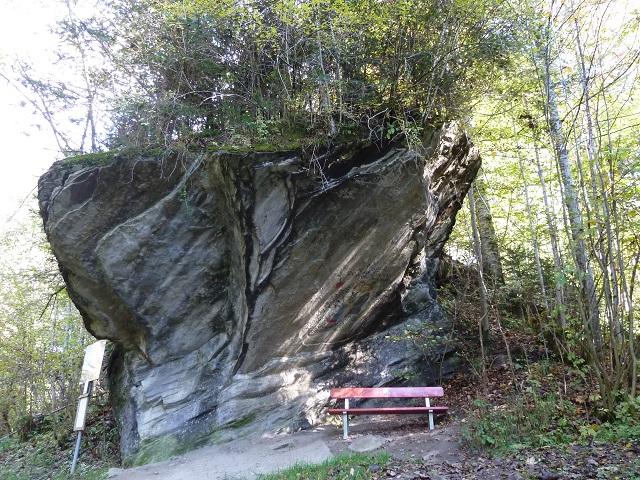 Felsüberhang am Abenteuer Galetschbach