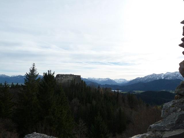 Blick auf die Burgruine Eisenberg