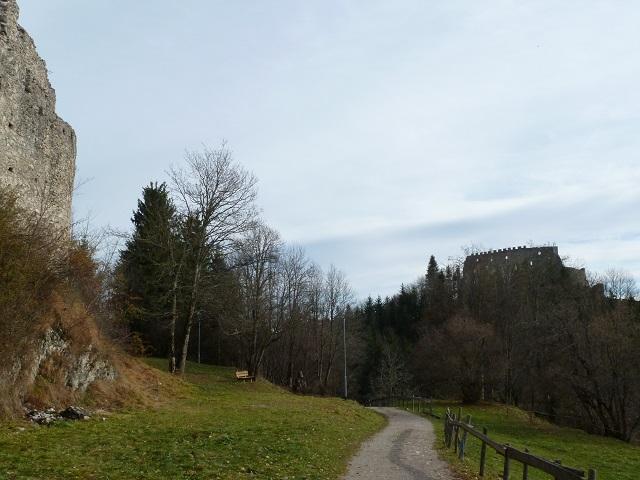 Weg zur Ruine Eisenberg im Allgäu