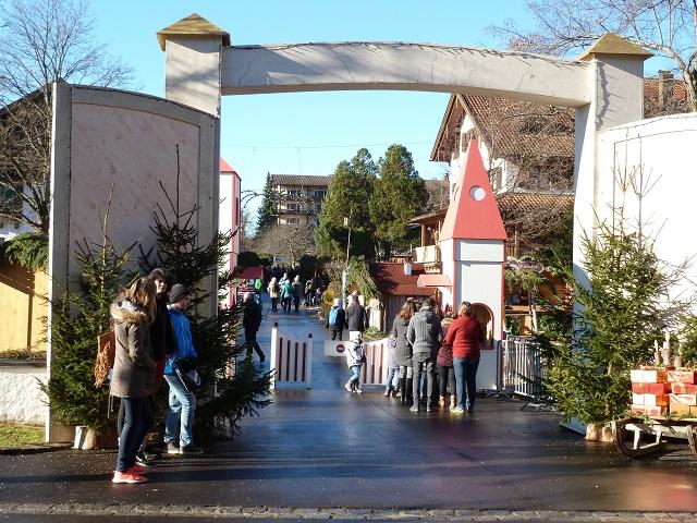 Eingang zum Weihnachtsmarkt Bad Hindelang