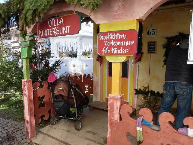 Die Villa Kunterbunt auf dem Weihnachtsmarkt Bad Hindelang
