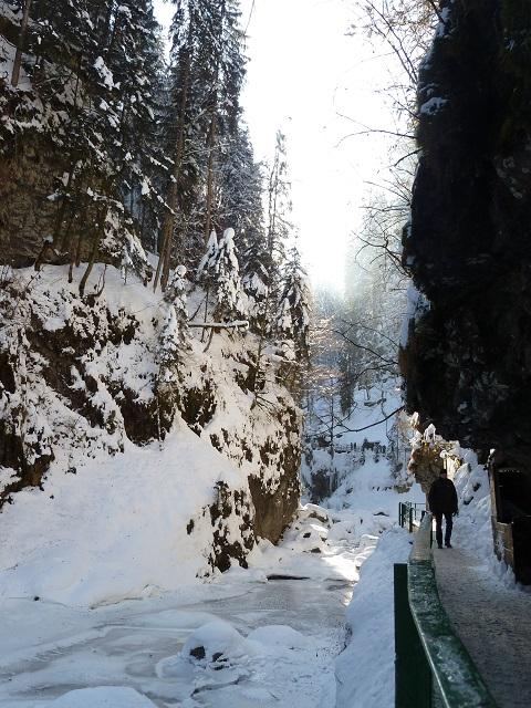 Im Winter in der Breitachklamm