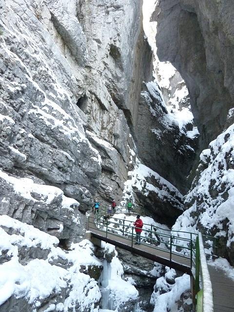 im Winter in der Breitachklamm bei Oberstdorf