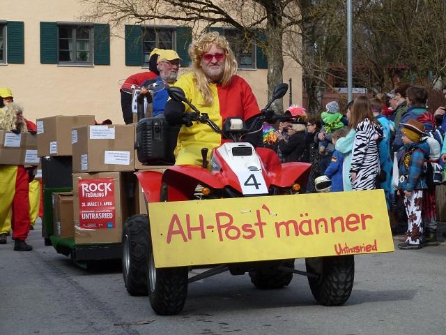 Fasching in Obergünzburg 2017 - AH-Postmänner aus Untrasried