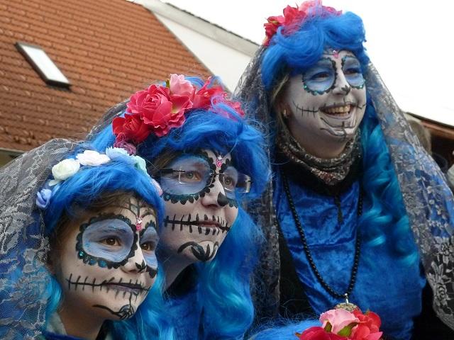 Faschingsumzug Obergünzburg 2017 - Los Muertos in Blau