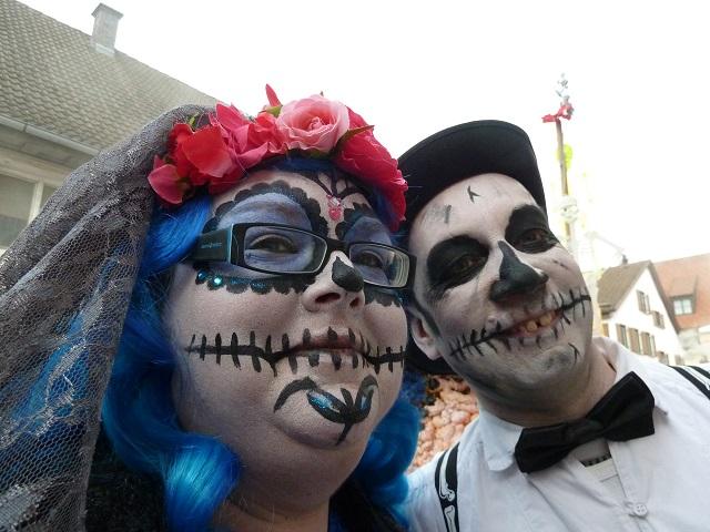 Faschingsumzug Obergünzburg 2017 - Los Muertos in Weiß und Blau