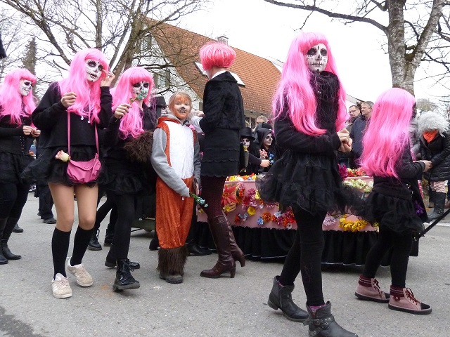 Faschingsumzug Obergünzburg 2017 - Muertos in pink