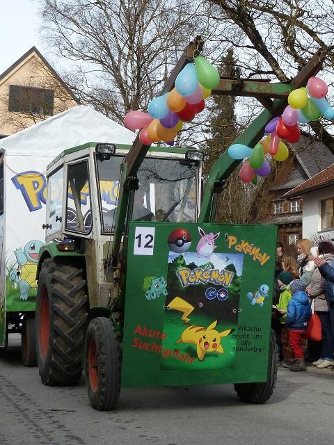 Pokemonwagen im Obergünzburger Fasching 2017