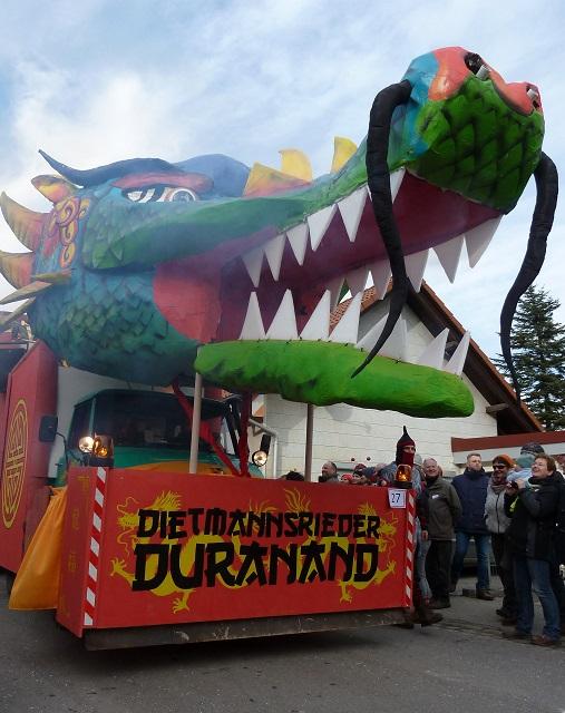 Faschingsumzug Ronsberg 2017 - Drache des Dietmannsrieder Duranand
