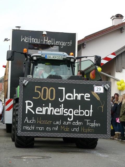 Faschingsumzug Ronsberg 2017 - Reinheitsgebot Hellengerst