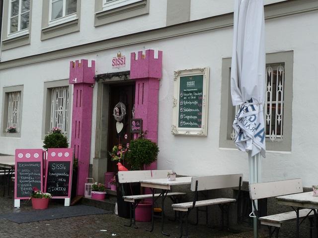 Eingang zum Café Sissi in Kempten