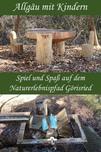 Spiel und Spaß auf dem Naturerlebnispfad Görisried im Allgäu