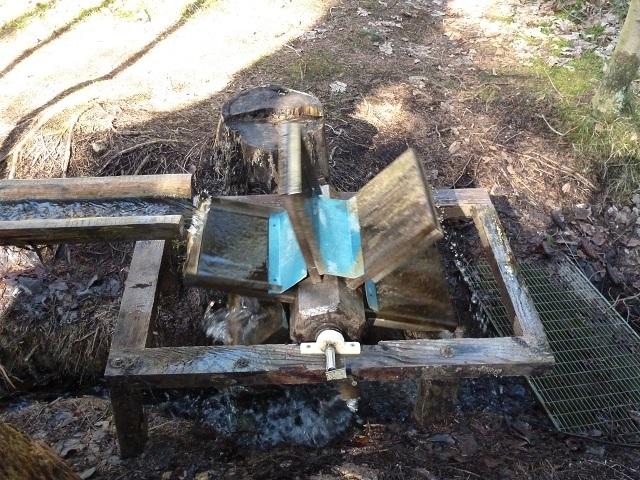 Wasserrad auf dem Naturerlebnispfad Görisried