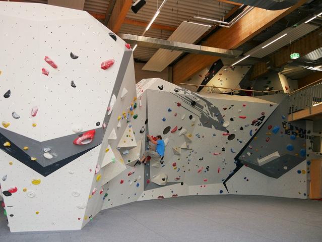 Boulderbereich in der ersten Etage