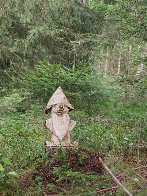 Bär mit Hut im Wald am Hopfensee
