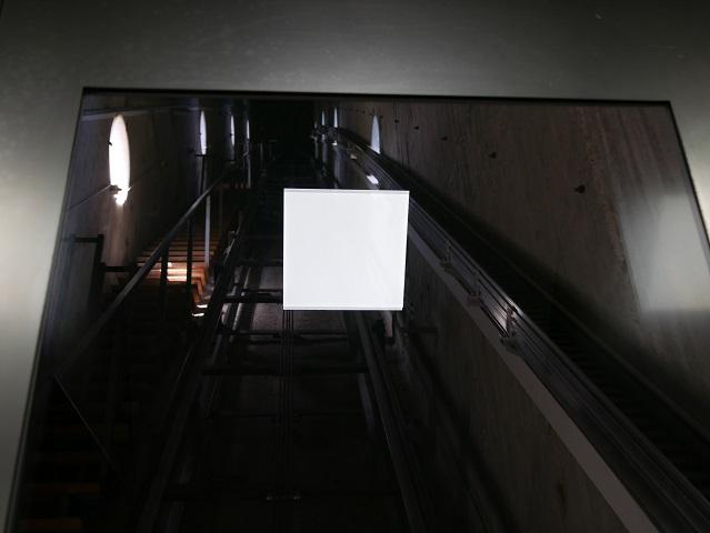 Im Turmaufzug der Heini-Klopfer-Schanze